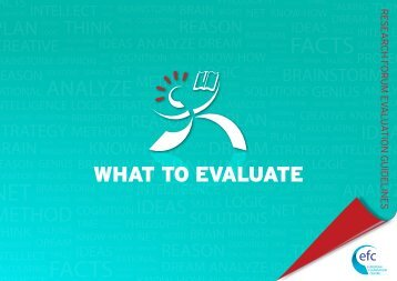 WHAT To EvAluATE - The European Foundation Centre