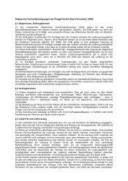 Allgemeine Verkaufsbedingungen AGB - Pluggit