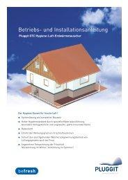 BIA- Betriebs und Installationsanleitung Hygiene Luft - Pluggit