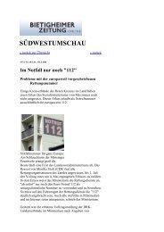Bietigheimer Zeitung 01.07.09 - Forum Notfallrettung Stuttgart