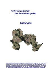 Satzungen Amtsvormundschaft des Bezirks Bremgarten - Gemeinde ...
