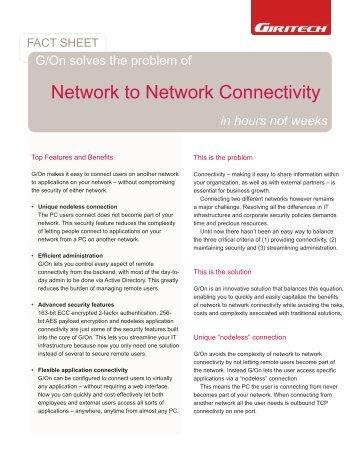 Network to Network Connectivity - Giritech.de