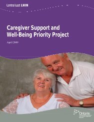 Caregiver Support and Well-Being Priority Project - Central East ...