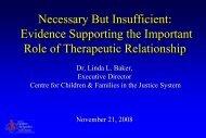 Necessary but Insufficient - Children's Mental Health Ontario