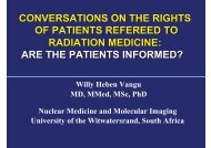 Willy Heben Vangu MD, MMed, MSc, PhD Nuclear ... - eventsm.co.za