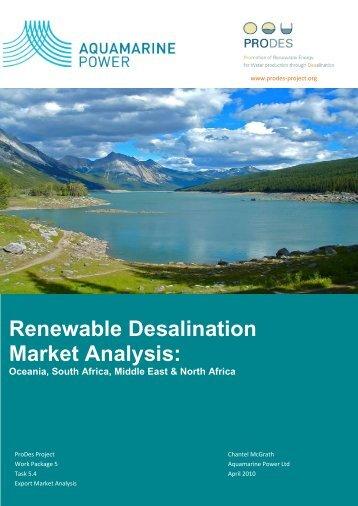 Renewable Desalination Market Analysis: - ProDes