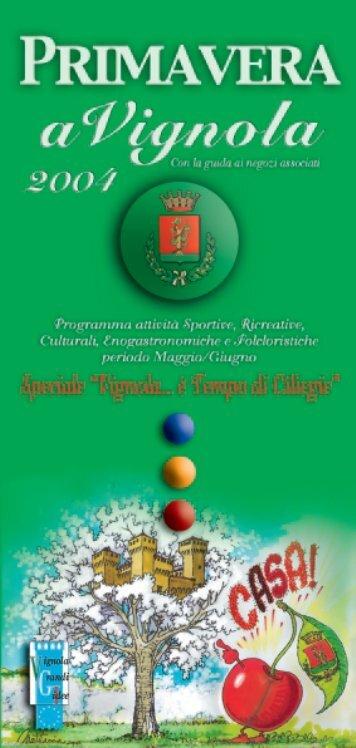 Programma della manifestazione - Città di Vignola