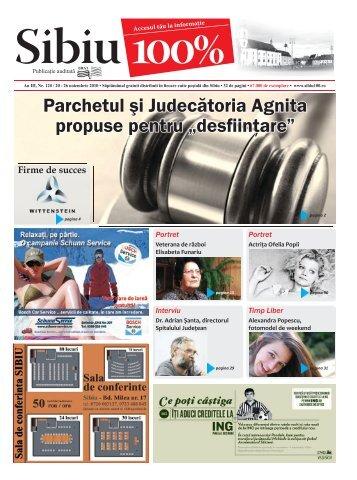Parchetul şi Judecătoria Agnita propuse pentru ... - Sibiu 100