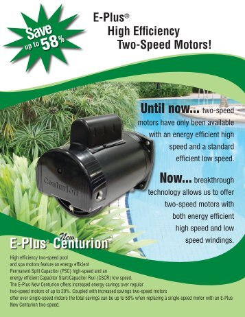 Until now... two-speed - Electric Motors