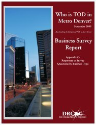 Appendix C - Responses to Survey Questions by Business Type