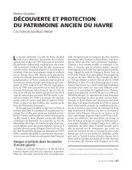 découverte et protection du patrimoine ancien du havre