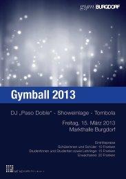 Gymball 2013 - Gymnasium Burgdorf