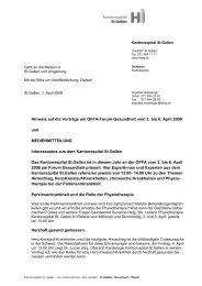 Brief mit Logo - Kantonsspital St. Gallen