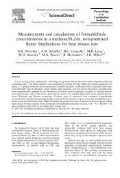Measurements and calculations of formaldehyde ... - Yale University