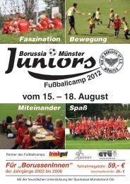 Infoflyer Fußballcamp 2012 (PDF) - DJK SV Borussia 07 Münster eV
