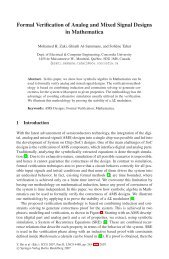 Formal Verification of Analog and Mixed Signal Designs in ...