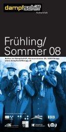Frühling/ Sommer 08 - Dampfschiff