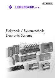 Elektronik / Systemtechnik Electronic Systems - Lehengoak