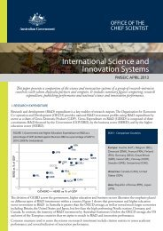 International Science and Innovation Systems - Chief Scientist for ...