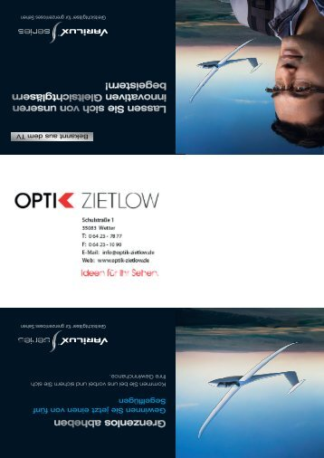 15096 Optik Zietlow.indd - bei OPTIK ZIETLOW