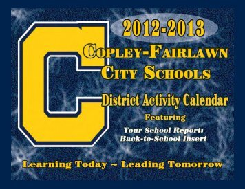 2012-2013 District Activity Calendar - Copley-Fairlawn City Schools