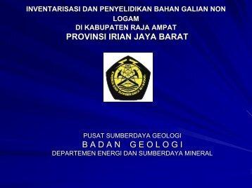 kab.Raja Ampat-1(MartuaRaja).pdf - Pusat Sumber Daya Geologi