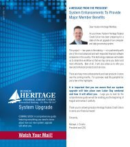 System Upgrade - Hudson Heritage Federal Credit Union