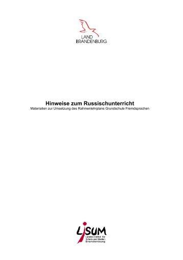 Hinweise zum Russischunterricht (2 - Bildungsserver Berlin ...