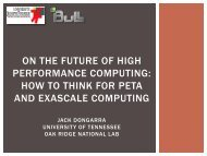 on the future of high performance computing: how to think for ... - Bull