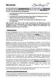 Merkblatt - Schule in Steißlingen