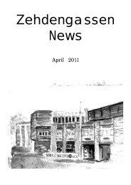 Zehdengassen News 04 2011