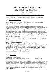 ELTERNVEREIN DER GTVS 20., SPIELMANNGASSE 1