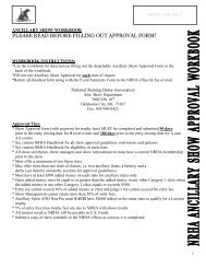 PLEASE READ BEFORE FILLING OUT APPROVAL FORM! - NRHA