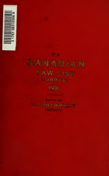 The Canadian law list - Index of