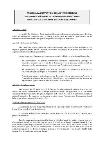 PROJET D'ANNEXE CADRES - UCV