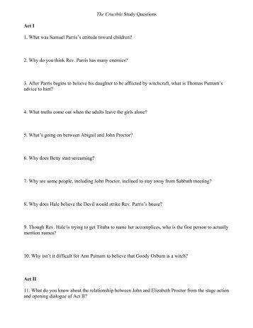 a p english the crucible ms donovan act iii study guide rh yumpu com crucible act 3 study questions crucible act 2 study guide questions and answers