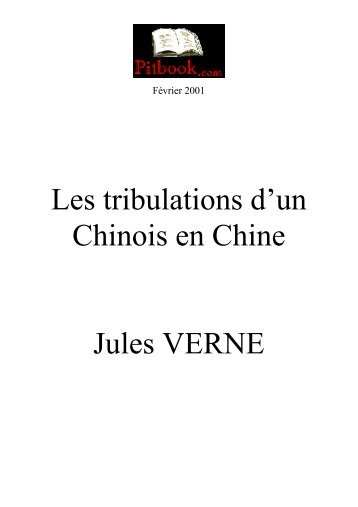 Les tribulations d'un Chinois en Chine Jules VERNE