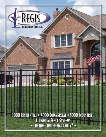Regis Aluminum Fence Brochure - Sharon Fence