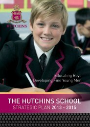 Strategic Plan 2013 – 2015 - The Hutchins School
