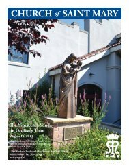 Sunday, August 11, 2013 - St. Mary's Roman Catholic Church