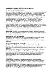 Aus dem Koalitionsvertrag CDU/CSU/FDP