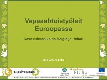 Vapaaehtoistyölait Euroopassa (Powerpoint ... - Kansalaisareena