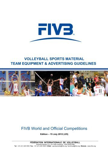 volleyball sports material team equipment & advertising ... - FIVB