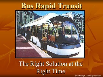 Overview of BRT Technology - Bus Rapid Transit Policy Center