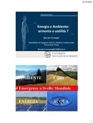 Energia e Ambiente - Mose