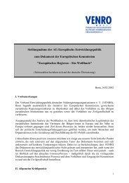 Stellungnahme der AG Europäische Entwicklungspolitik ... - Venro