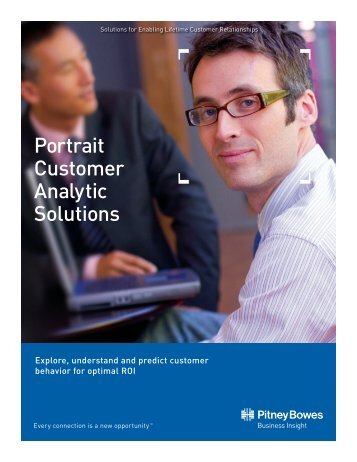 Portrait Customer Analytic Solutions Brochure - Pitney Bowes