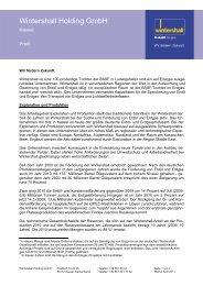 Wintershall Holding GmbH - Wintershall AG