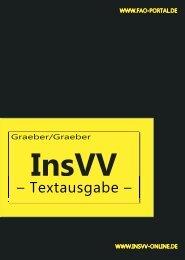 InsVV-Textversionen Download - Insolvenzrechtlichen ...