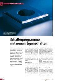 Schalterprogramme mit neuen Eigenschaften - elektrobörse